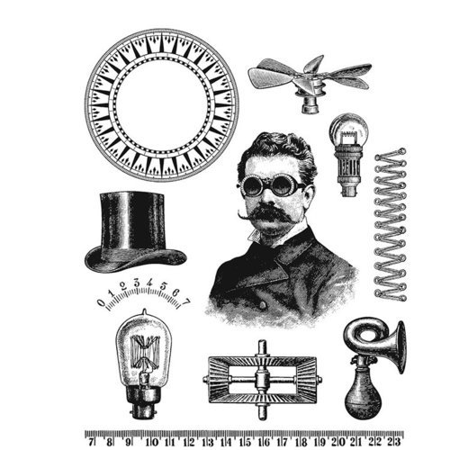 Stampers Anonymous - Tim Holtz - Cling Mounted Rubber Stamp Set - The Professor