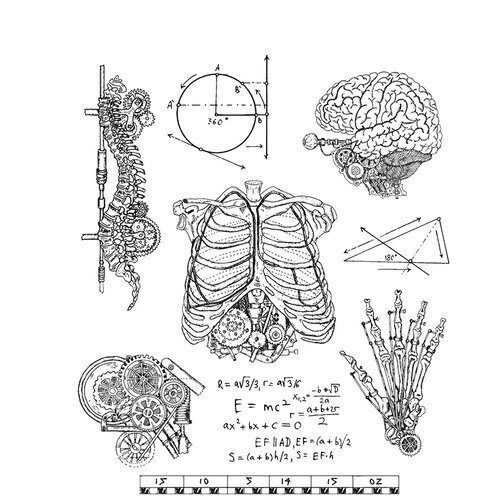 Stampers Anonymous - Tim Holtz - Cling Mounted Rubber Stamp Set - Weird Science