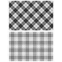 Stampers Anonymous - Tim Holtz - Cling Mounted Rubber Stamp Set - Perfect Plaids