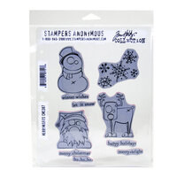 Stampers Anonymous - Christmas - Tim Holtz - Cling Mounted Rubber Stamp Set - Merry Misfits