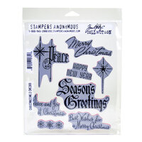 Stampers Anonymous - Christmas - Tim Holtz - Cling Mounted Rubber Stamp Set - Christmastime Number 2