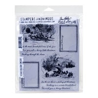 Stampers Anonymous - Christmas - Tim Holtz - Cling Mounted Rubber Stamp Set - Scenic Holiday