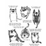 Stampers Anonymous - Tim Holtz - Cling Mounted Rubber Stamp Set - Snarky Cat
