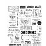 Stampers Anonymous - Tim Holtz - Cling Mounted Rubber Stamp Set - Field Notes