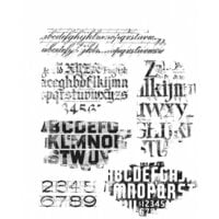 Stampers Anonymous - Tim Holtz - Cling Mounted Rubber Stamp Set - Faded Type