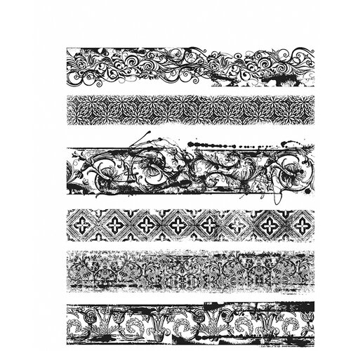 Stampers Anonymous - Tim Holtz - Cling Mounted Rubber Stamp Set - Eclectic Edges