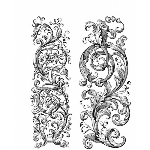 Stampers Anonymous - Tim Holtz - Cling Mounted Rubber Stamp Set - Baroque