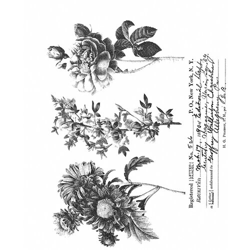 Stampers Anonymous - Tim Holtz - Cling Mounted Rubber Stamp Set - Flower Shop