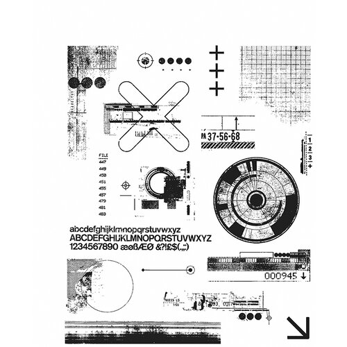 Stampers Anonymous - Tim Holtz - Cling Mounted Rubber Stamp Set - Mini Glitch