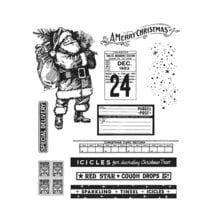 Stampers Anonymous - Tim Holtz - Cling Mounted Rubber Stamps - Christmas - Vintage Holidays