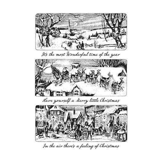 Stampers Anonymous - Tim Holtz - Cling Mounted Rubber Stamps - Christmas - Holiday Scenes