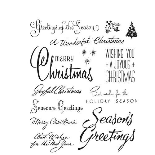 Stampers Anonymous - Tim Holtz - Cling Mounted Rubber Stamps - Christmas Time Number Three