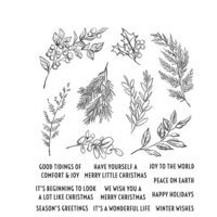Stampers Anonymous - Tim Holtz - Cling Mounted Rubber Stamps - Christmas - Sketch Greenery