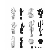 Stampers Anonymous - Tim Holtz - Cling Mounted Rubber Stamp Set - Mod Cactus