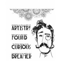 Stampers Anonymous - Tim Holtz - Cling Mounted Rubber Stamp Set - Observations