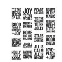Stampers Anonymous - Tim Holtz - Christmas - Cling Mounted Rubber Stamps - Mini Bold Tidings