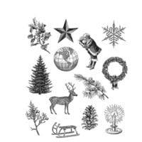 Stampers Anonymous - Tim Holtz - Christmas - Cling Mounted Rubber Stamps - Holiday Things