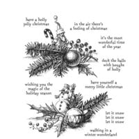 Stampers Anonymous - Tim Holtz - Cling Mounted Rubber Stamps - Cozy Christmas