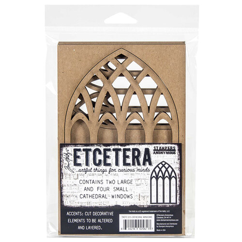 Stampers Anonymous - Christmas - Tim Holtz - Thickboard - Cathedral Windows