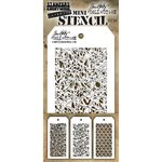 Stampers Anonymous - Tim Holtz - Layering Stencil - Mini Set 24