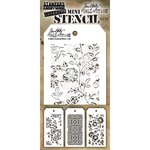 Stampers Anonymous - Tim Holtz - Layering Stencil - Mini Set 25
