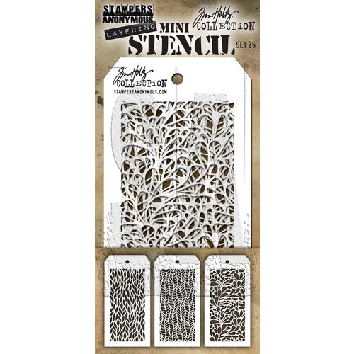 Stampers Anonymous - Tim Holtz - Layering Stencil - Mini Set 26