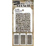 Stampers Anonymous - Tim Holtz - Layering Stencil - Mini Set 28