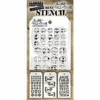 Stampers Anonymous - Tim Holtz - Layering Stencil - Mini Set 29