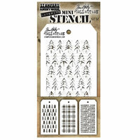 Stampers Anonymous - Tim Holtz - Layering Stencil - Mini Set 32