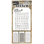 Stampers Anonymous - Tim Holtz - Layering Stencil - Mini Set 33
