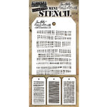 Stampers Anonymous - Tim Holtz - Layering Stencil - Mini Set 34