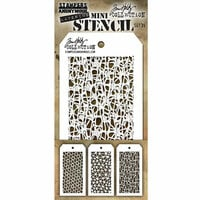 Stampers Anonymous - Tim Holtz - Layering Stencil - Mini Set 35