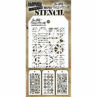 Stampers Anonymous - Tim Holtz - Layering Stencil - Mini Set 41