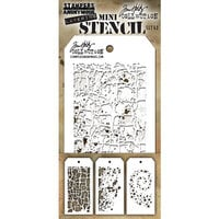 Stampers Anonymous - Tim Holtz - Layering Stencil - Mini Set 43