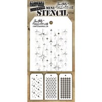 Stampers Anonymous - Christmas - Tim Holtz - Layering Stencil - Mini Stencil Set 44