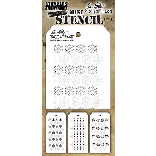 Stampers Anonymous - Christmas - Tim Holtz - Layering Stencil - Mini Stencil Set 45
