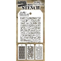 Stampers Anonymous - Tim Holtz - Layering Stencil - Mini Stencil Set - 49
