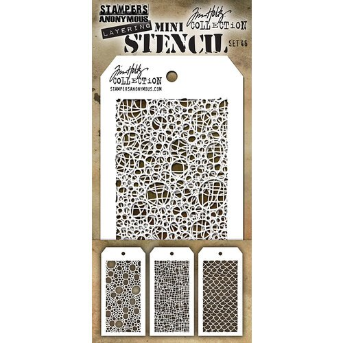 Stampers Anonymous - Tim Holtz - Layering Stencil - Mini Stencil Set 46