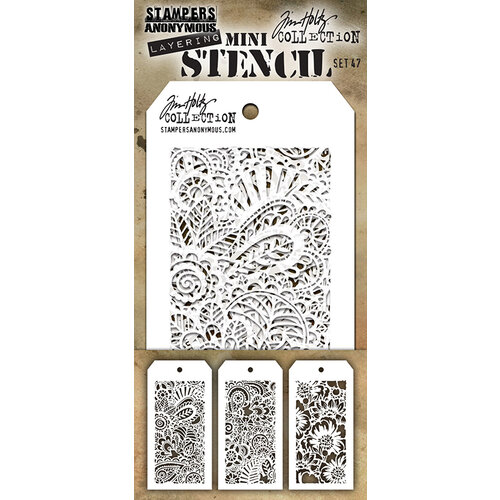 Stampers Anonymous - Tim Holtz - Layering Stencil - Mini Stencil Set 47