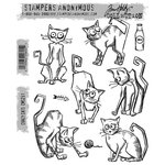 Stampers Anonymous - Tim Holtz - Cling Mounted Rubber Stamp Set - Crazy Cats
