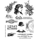 Stampers Anonymous - Tim Holtz - Cling Mounted Rubber Stamp Set - Ladies and Gentlemen