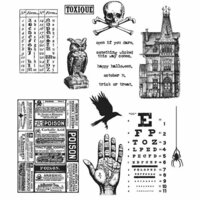 Stampers Anonymous - Tim Holtz - Halloween - Cling Mounted Rubber Stamp Set - Mini Halloween 5