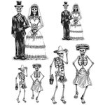 Stampers Anonymous - Tim Holtz - Halloween - Cling Mounted Rubber Stamp Set - Day Of The Dead 2