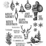 Stampers Anonymous - Tim Holtz - Christmas - Cling Mounted Rubber Stamp Set - Holiday Drawings