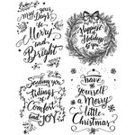 Stampers Anonymous - Tim Holtz - Christmas - Cling Mounted Rubber Stamp Set - Doodle Greetings 1
