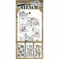 Stampers Anonymous - Tim Holtz - Layering Stencil - Mini Set 19