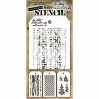 Stampers Anonymous - Tim Holtz - Layering Stencil - Mini Set 21