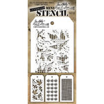 Stampers Anonymous - Tim Holtz - Layering Stencil - Mini Set 22