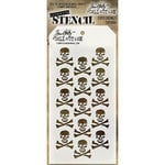 Stampers Anonymous - Tim Holtz - Halloween - Layering Stencil - Crossbones