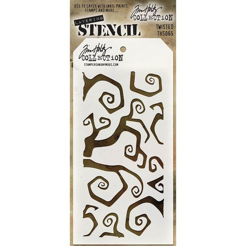 Stampers Anonymous - Tim Holtz - Halloween - Layering Stencil - Twisted
